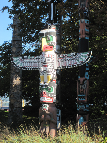 Stanley Park Totem Pole captured on Native Education Colle Field Trip